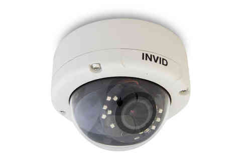 INVID Outdoor Dome Full-HD IP-Kamera mit Autofokus Motorzoom-Objektiv